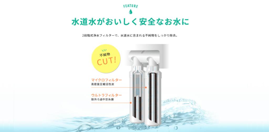 ハミングウォーターの浄水能力